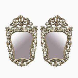 Espejos dorados, años 30. Juego de 2