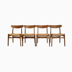 Mid-Century CH23 Esszimmerstühle aus Palisander von Hans J. Wegner für Carl Hansen & Søn, 4er Set