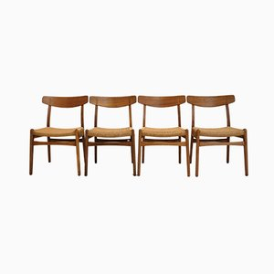 Mid-Century CH23 Rosewood Dining Chairs by Hans J. Wegner for Carl Hansen & Søn, Set of 4