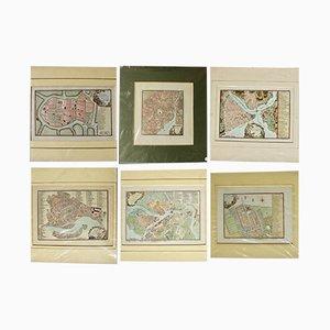 Mappe antiche, set di 6