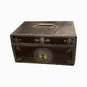 Boîte Antique en Cuir