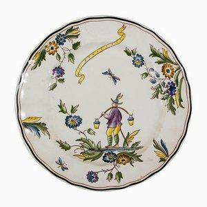 Plato de porcelana de Gio Ponti para Richard Ginori, años 30
