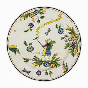 Piatto in porcellana di Gio Ponti per Richard Ginori, anni '30
