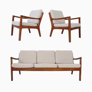 Teak Senator Sofa & Chairs by Ole Wanscher for France & Søn / France & Daverkosen, 1960s, Set of 3