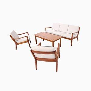 Teak Senator Sofa & Chairs by Ole Wanscher for France & Søn / France & Daverkosen, 1960s, Set of 3