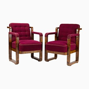 Art Deco Armchairs, 1920s, Set of 2