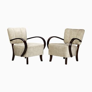 Art Deco H 237 Armchairs by Jindřich Halabala for UP Závody, 1930s, Set of 2