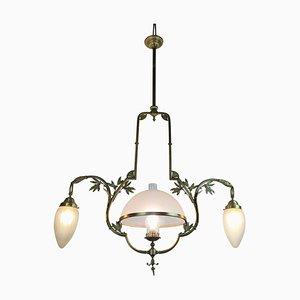 Lampada da soffitto in ottone di Liberty, anni '20
