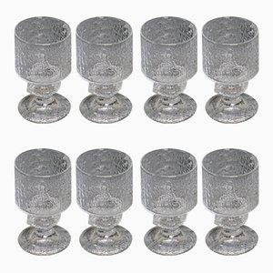 Glass Set by Timo Sarpaneva for Iittala, 1960s, Set of 8