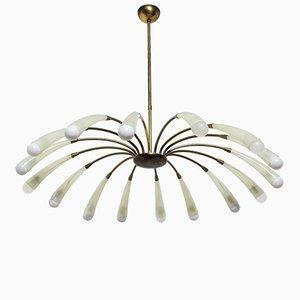 Lámpara de araña italiana Mid-Century, años 50