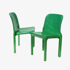 Selene Chairs by Vico Magistretti for Artemide, Set of 2