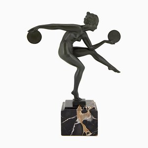 Art Deco Sculpture by Marcel Bouraine for Max Le Verrier, 1930s