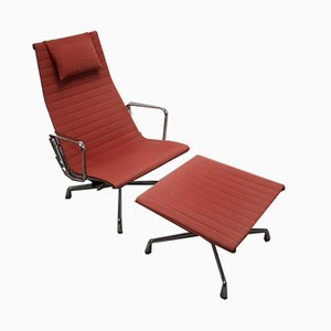 Lounge Chair & Ottoman by Charles & Ray Eames for Vitra, 1997, Set of 2