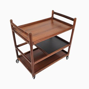 Mid-Century Danish Rosewood Trolley by Johannes Andersen for CFC Silkeborg