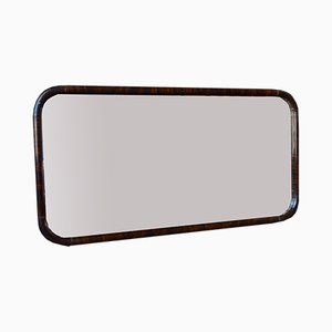 French Art Deco Rosewood Mirror, 1930s