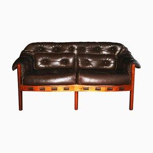 Sofá de cuero de Arne Norell para Coja, años 60