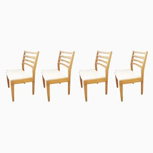 Vintage Teak Dining Chairs, 1960s, Set of 4