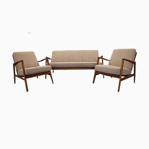 Dänische Vintage Sitzgruppe, 3er Set
