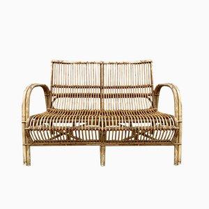 Vintage Danish Bamboo Sofa by R. Wengler Studio for R Wengler