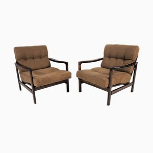 Armchairs by Zenon Bączyk, 1960s, Set of 2