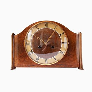 Art Deco Walnut Mantel Clock from Kienzle, 1940s