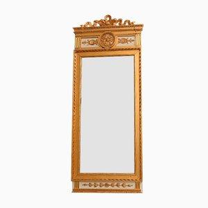 Antiker gustavianischer Spiegel mit bronziertem Rahmen, 1870er