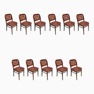 Chaises de Salle à Manger en Bois Courbé par Josef Hoffmann, 1990s, Set de 11