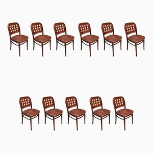 Esszimmerstühle aus Bugholz von Josef Hoffmann, 1990er, 11er Set