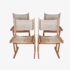 Chaises de Salon Scandinaves par Svein Bjørneng pour Bruksbo, 1960s, Set de 4