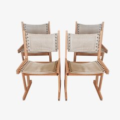 Scandinavian Dining Chairs by Svein Bjørneng, for Bruksbo, 1960s, Set of 4