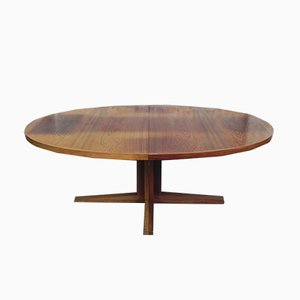 Large Vintage Rosewood Dining Table by John Mortensen for Heltborg Møbler, 1960s