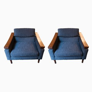 Danish Teak Armchairs, 1960s, Set of 2