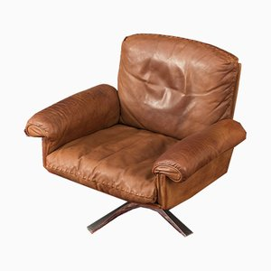 Model DS-31 Leather Lounge Chair from de Sede, 1970s
