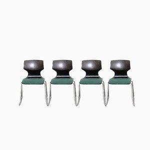 Mid-Century Esszimmerstühle aus Pagholz von Flötotto, 4er Set