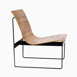 Teak & Steel Lounge Chair by Günter Renkel for Rego, 1950s