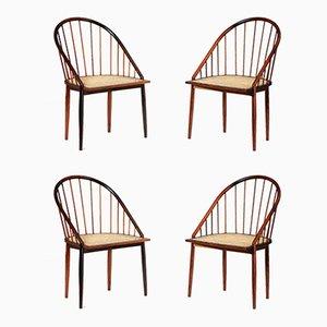 Esszimmerstühle aus Palisander von Joaquim Tenreiro, 1960er, 4er Set