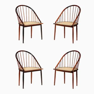 Rosewood Dining Chairs by Joaquim Tenreiro, 1960s, Set of 4