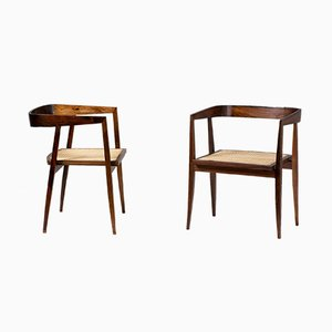 Rosewood Dining Chairs by Joaquim Tenreiro, 1960s, Set of 2