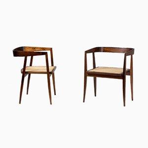 Sedie da pranzo in palissandro di Joaquim Tenreiro, anni '60, set di 2