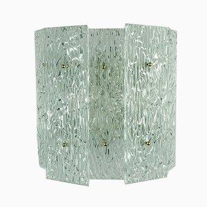 Wandlampe aus Eisglas von Kalmar, 1960er