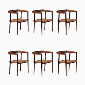Chaises de Salle à Manger en Palissandre par Joaquim Tenreiro, 1960s, Set de 6