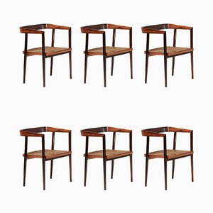 Rosewood Dining Chairs by Joaquim Tenreiro, 1960s, Set of 6