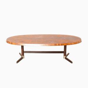 Tavolino da caffè in legno massiccio, anni '60