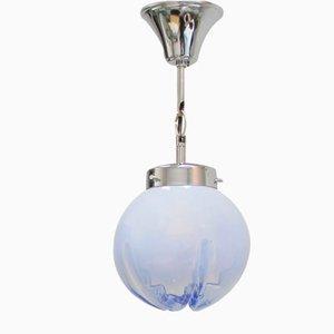 Lámpara de techo con lámpara de cristal de Murano de Mazzega, años 70