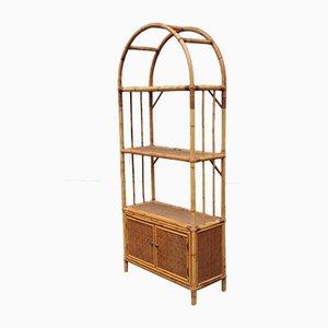Italian Bamboo Bookcase, 1950s