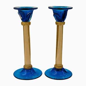 Kerzenhalter aus Muranoglas von Stefano Toso für Romano Dona, 1970er, 2er Set