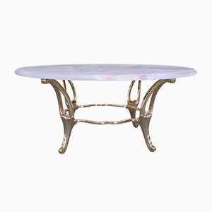 Vintage Brass & Onyx Coffee Table