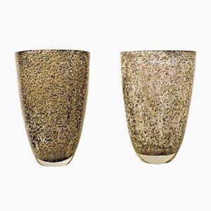 Vasen aus Muranoglas, 1980er, 2er Set