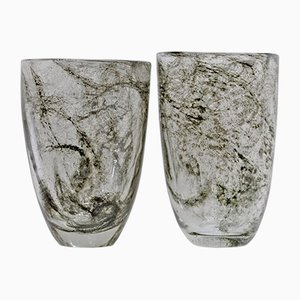 Murano Glass Model Crepuscolo Vases from Ercole Barovier, 1930s, Set of 2