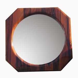 Italienischer Spiegel mit Rahmen aus Palisander, 1960er